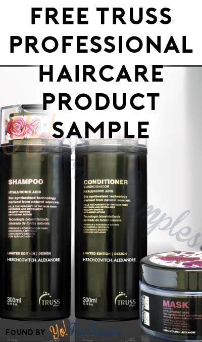 FREE TRUSS Professional Haircare Product Sample (Facebook or Instagram Follow Required)