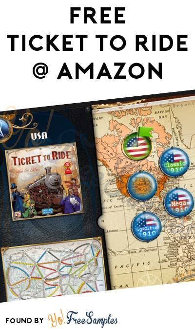 FREE Ticket to Ride Train Board Game On Amazon