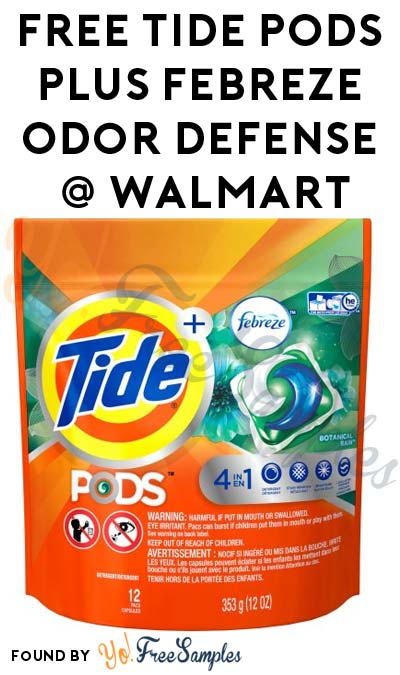 FREE Tide PODS Plus Febreze Odor Defense At Walmart After In-Store Pick Up & Cashback (New TopCashBack Members Only)
