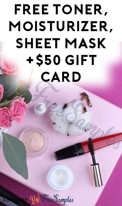 FREE Toner, Moisturizer, Sheet Mask +$50 Gift Card From PinkPanel (Women Aged 35-45 Only & Surveys Required)
