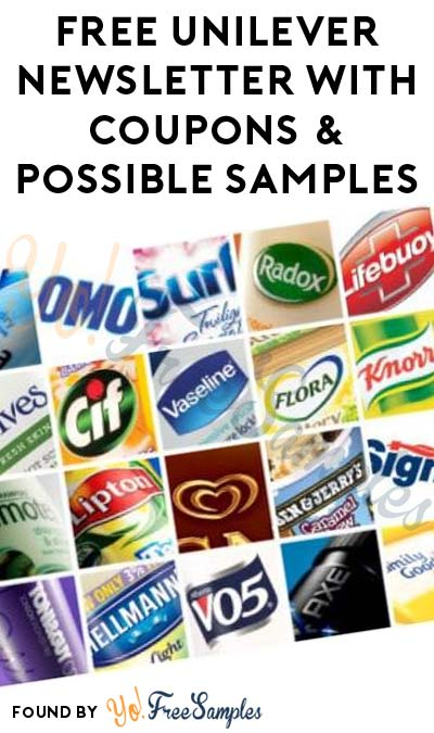 FREE Unilever Newsletter With Coupons & Possible Samples (Survey Required)