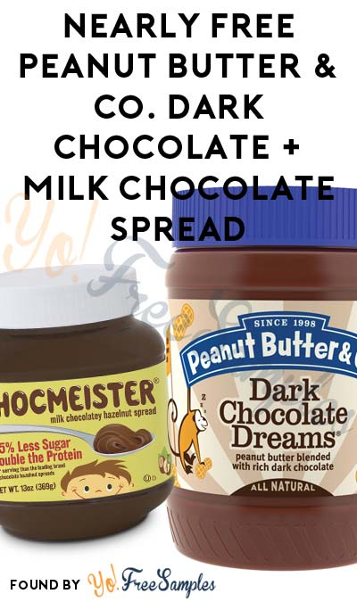 Nearly FREE Peanut Butter & Co. Dark Chocolate + Milk Chocolate Spread (Email Required)