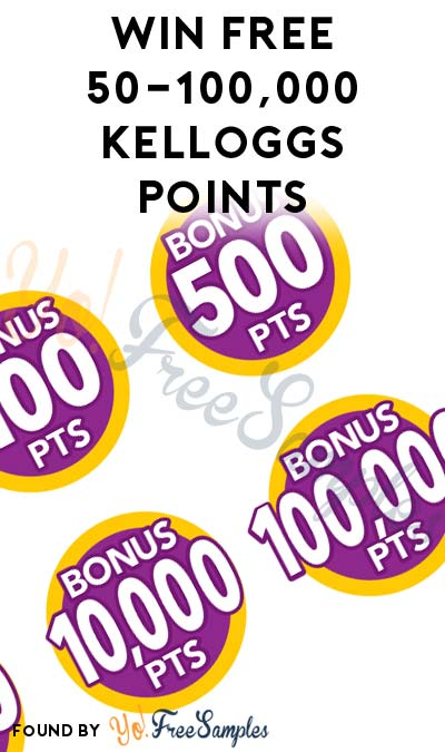 Win FREE 50-100,000 Kelloggs Family Rewards Points With The Spin to Win Game Daily