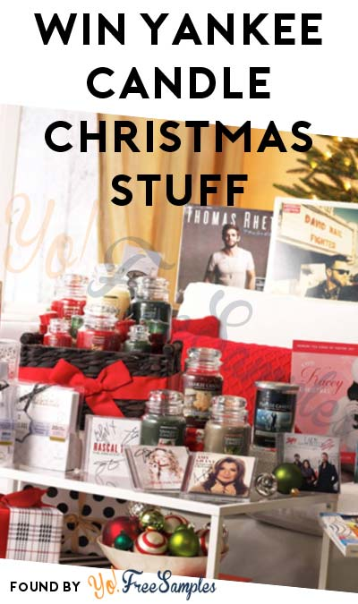 Enter Daily: Win FREE Yankee Candle Stuff Daily From Christmas Countdown Giveaway