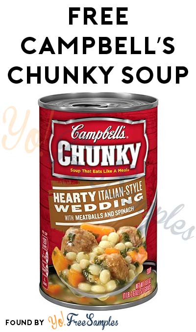 FREE Campbell's Chunky Soup For Sending Text (AL, FL, GA, LA, MS, NC, SC Only)