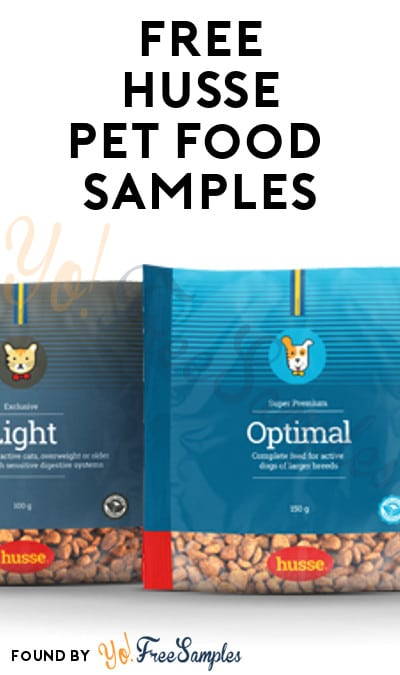 Possible FREE Husse Cat & Dog Food Samples