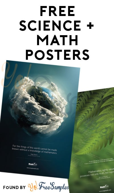 3 FREE Science & Math Posters from MapleSoft [Verified Received By Mail]