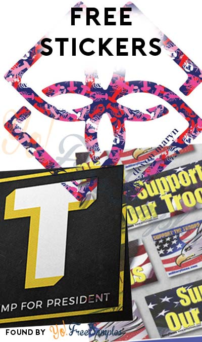 3 FREE Stickers Today: Support Our Troops Sticker, Devon Maryn Sticker & Trump For President Big T Sticker