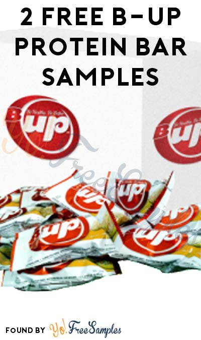 2 FREE B-UP Protein Bar Samples