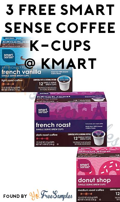 3 FREE Smart Sense Coffee K-Cups After In-Store Pick Up & Kmart Cashback