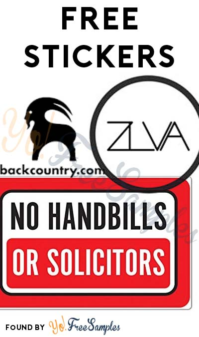 3 FREE Stickers: No Handbill Decal, ZLVA Stickers & BackCountry Sticker