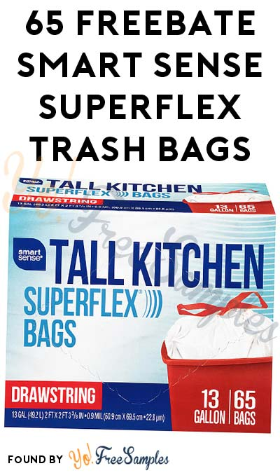 65 FREEBATE Smart Sense Superflex Tall Kitchen Trash Bags After In-Store Pick Up & Kmart Cashback