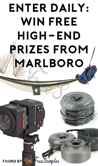 Enter Daily: Win FREE Ultimate Camping Cook Set, Hammock Backpack & Many More Prizes From Marlboro