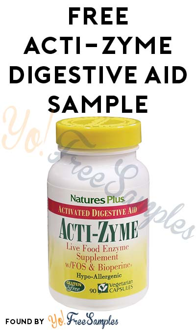 FREE Acti-Zyme Digestive Aid Sample