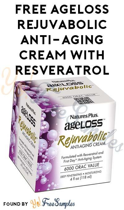FREE AgeLoss REJUVABOLIC Anti-Aging Cream With Resveratrol