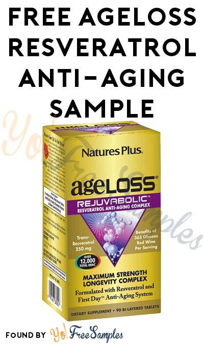 FREE AgeLoss REJUVABOLIC Resveratrol Anti-Aging Complex Sample