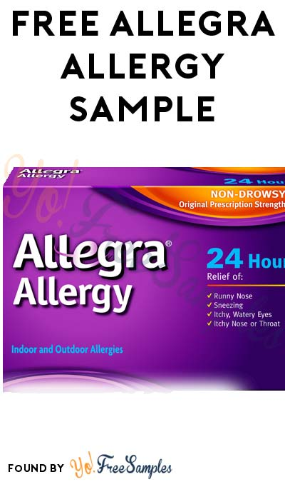 FREE Allegra Allergy Sample (Short Survey Required / Not Mobile Friendly)