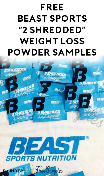 FREE Beast Sports 2 Shredded Thermogenic Powder Samples (Email Confirmation Required)