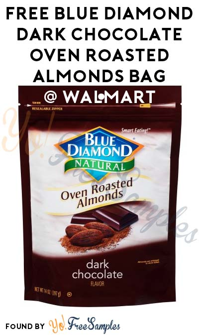 FREE Blue Diamond Dark Chocolate Oven Roasted Almonds Bag At Walmart After In-Store Pick Up & Cashback (New TopCashBack Members Only)
