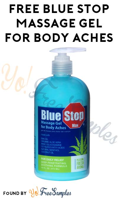 FREE Blue Stop Massage Gel For Body Aches (Sam's Club # Required)