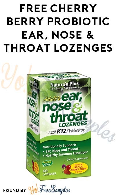 FREE Cherry Berry Probiotic Ear, Nose & Throat Lozenges