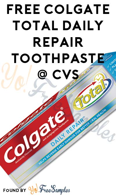 FREE Colgate Total Daily Repair Toothpaste At CVS (Coupons Required)