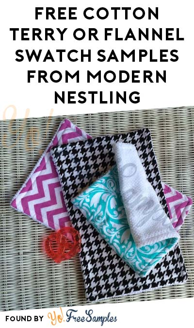 FREE Cotton Terry or Flannel Swatch Samples From Modern Nestling