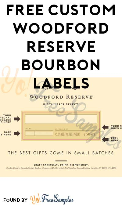 FREE Custom Woodford Reserve Bourbon Labels
