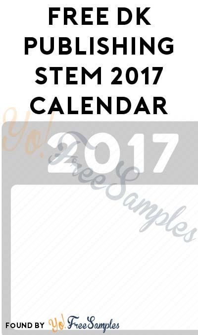 FREE DK Publishing STEM 2017 Calendar For Educators At Barnes & Noble Stores