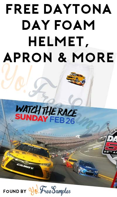 FREE Daytona Day Foam Helmet, Apron & More (Apply To HouseParty.com)