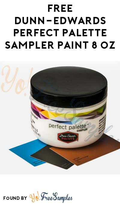 FREE Dunn-Edwards Perfect Palette Sampler Paint 8 oz (In-Store Coupon)