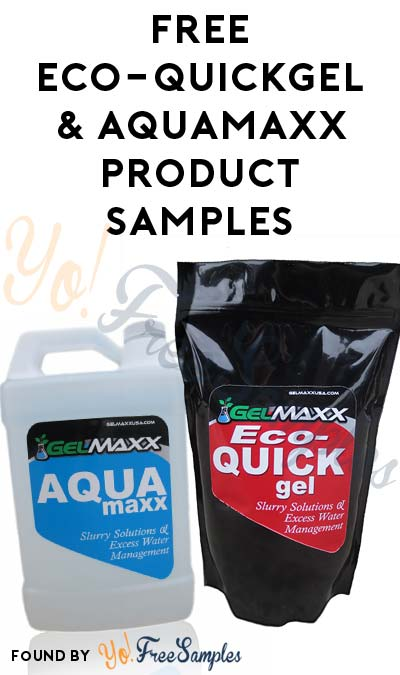 FREE ECO-QUICKgel & AQUAmaxx Product Samples