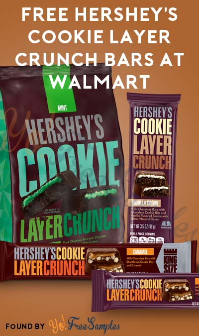 LAST DAY: FREE Hershey's Cookie Layer Crunch Bars At Walmart On 1/28 & 1/29 (In-Store Only)
