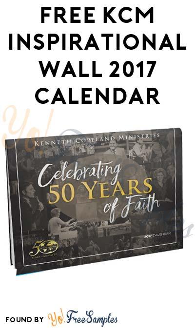 FREE KCM Inspirational Wall 2017 Calendar