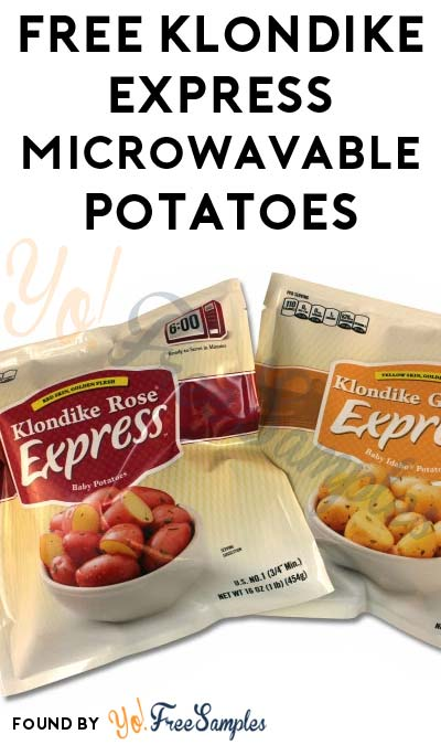 TODAY ONLY: FREE Klondike Express Microwavable Potatoes At Farm Fresh, Hornbachers, Shop 'N Save, Shoppers & Cub Stores