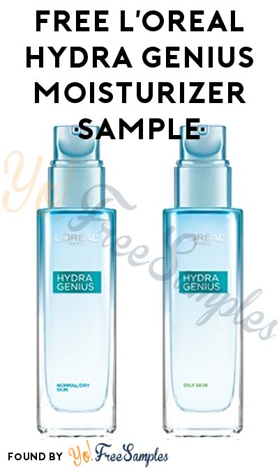 FREE L'Oreal Hydra Genius Liquid Moisturizer Sample [Verified Received By Mail]