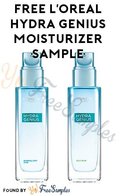 FREE L'Oreal Hydra Genius Liquid Moisturizer Sample