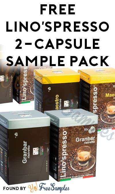 FREE Lino'spresso 2-Capsule Sample Pack For Nespresso Machines ...