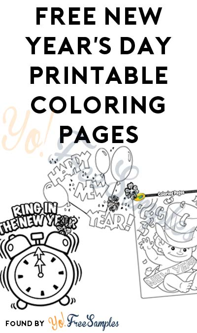FREE New Year's Day Printable Coloring Pages
