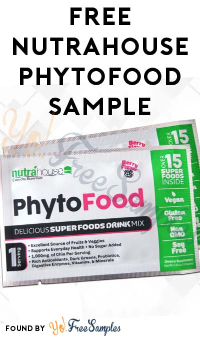 FREE NutraHouse Phytofood Superfood Sample