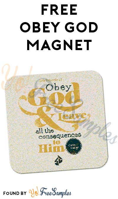 FREE Obey God Magnet From In Touch Ministries [Verified Received By Mail]