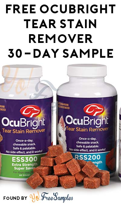 FREE OcuBright Tear Stain Remover 30-Day Sample (Veterinarian Required)