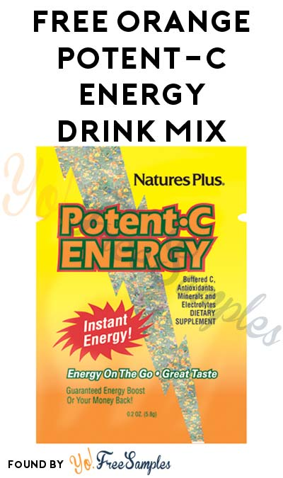 FREE Orange Potent-C Energy Drink Mix