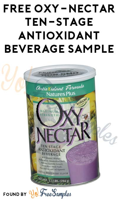 FREE Oxy-Nectar Ten-Stage Antioxidant Beverage Sample