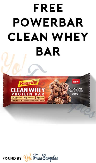 FREE Powerbar Clean Whey Bar For Taking Pledge