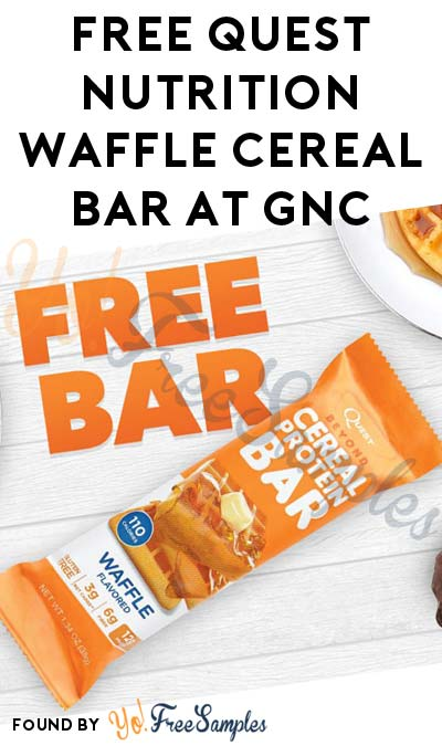 TODAY (1/14) ONLY: FREE Quest Nutrition Waffle Cereal Bar at GNC