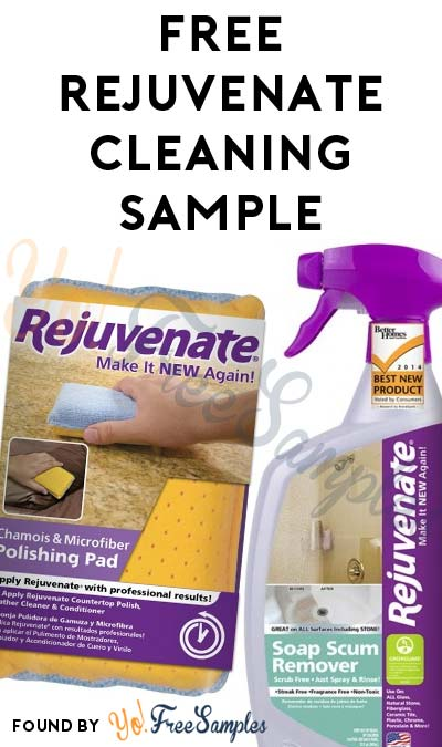 free rejuvenate cleaning product sample