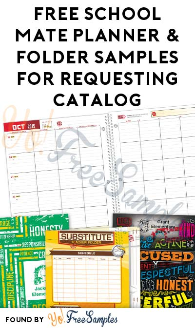 FREE School Mate Planner & Folder Samples For Requesting Catalog (Teachers Only)
