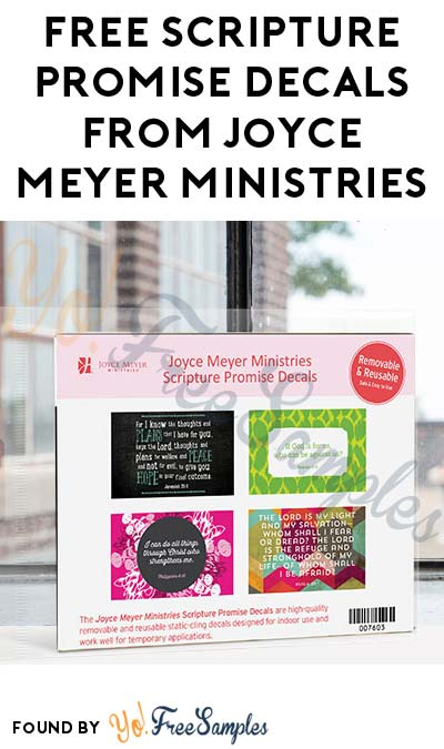 FREE Scripture Promise Decals From Joyce Meyer Ministries