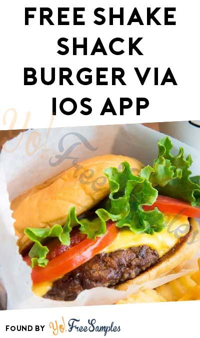 FREE Shake Shack Burger via iOS Mobile App